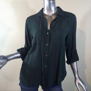 Rock & Republic Women's Medium Roll Cuff Shirt